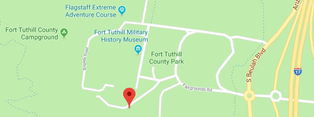 Map of Fort Tuthill Recreation Area