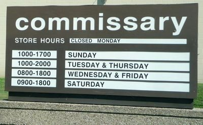 Commissary Hours