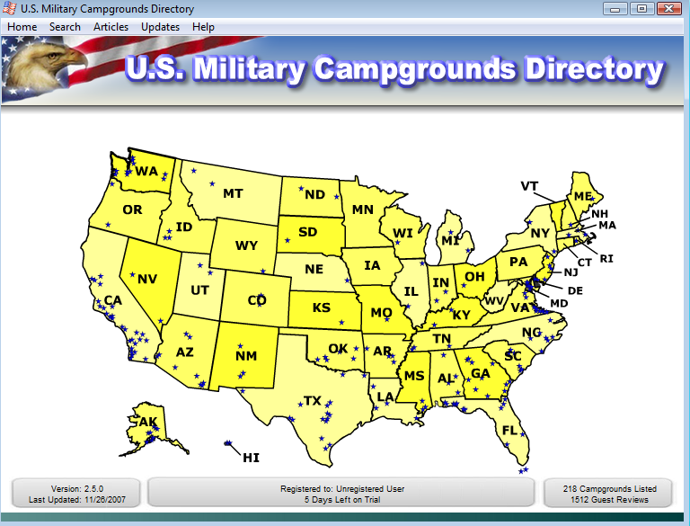 US Military Campgrounds And RV Parks US Military Campgrounds - Us military campgrounds and rv parks map