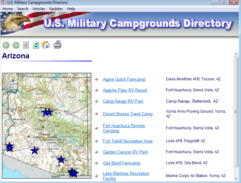 MilCamps Screen Shot 2