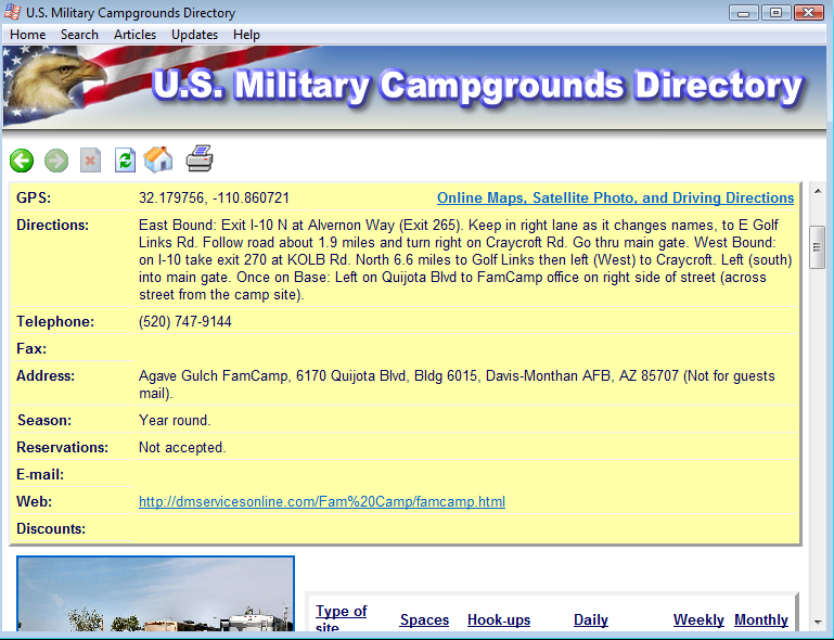 MilCamps Screen Shot 4