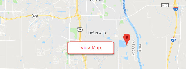 Map of Offutt AFB Base Lake FamCamp