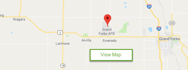 Map of Grand Forks AFB FamCamp