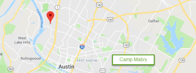 Map of Camp Mabry Travel Camp