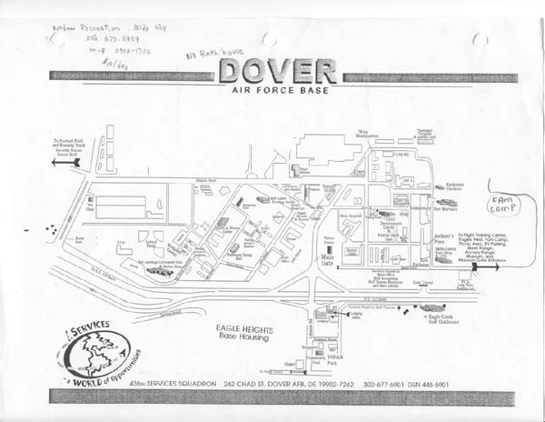 Map Dover Air Force Base Swimnovacom - Us air force base map