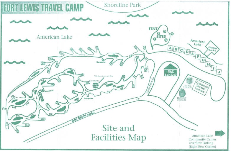 U S  Military Campgrounds and RV Parks - Joint Base Lewis