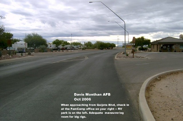 U S Military Campgrounds And Rv Parks Davis Monthan Afb