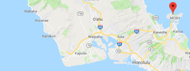 Kaneohe Bay Hawaii Map.U S Military Campgrounds And Rv Parks Kaneohe Bay Beach Cottages