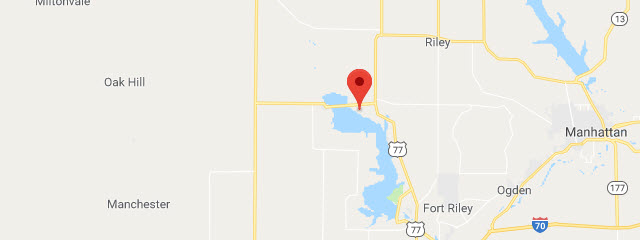 Map of Fort Riley Marina Primitive Camping