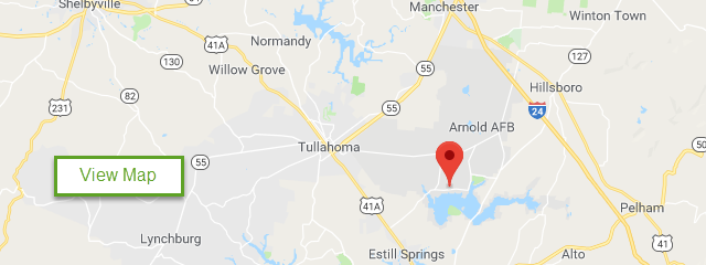 Map of Arnold AFB FamCamp