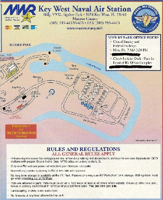 Florida Campgrounds Map.U S Military Campgrounds And Rv Parks Naskw Campground