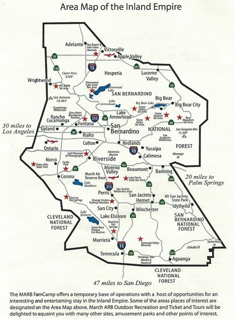 U.S. Military Campgrounds and RV Parks - March ARB FamCamp on