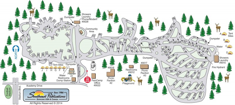 US Military Campgrounds And RV Parks Peregrine Pines FamCamp - Air force academy map