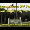Driving tour of Osprey Cove RV Park at Naval Station Mayport, Florida