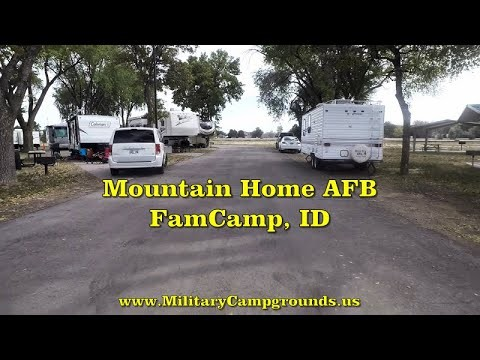 Driving Tour of Mountain Home AFB FamCamp, ID